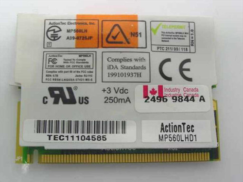 Dell Inspiron 56K Action Tec Laptop Modem - MP560LHD1 (06158U)
