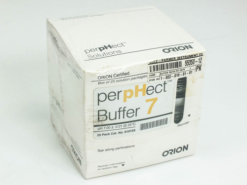 Orion 910725 perpHect Buffer PH 7 solution 55350-12 - Box of 25 - New Old Stock
