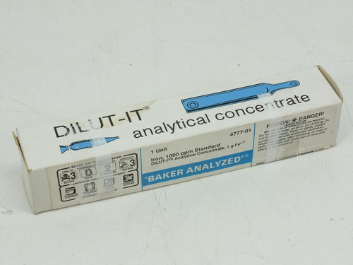 DILUT-IT 4777-01 1g Fe³ Iron 1000 ppm Analytical Concentrate Standard
