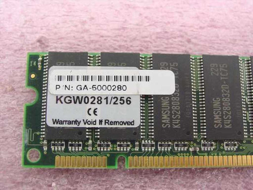 Kingston 256MB Memory , DIMM 168 pin, SDRAM, non parity KGW0281/256