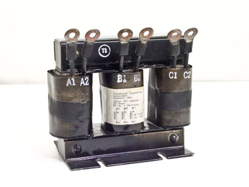 Transformer Engineering 3-Phase 20 Amp Inductor 3-Gang 250uH Inductor