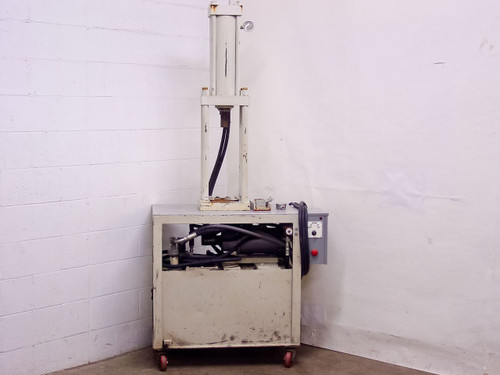 "White Hydraulic Press 16"" Stroke 2.5"" Dia Rod 208/220 VAC 