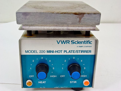 VWR Scientific 220 Mini-Hot Plate / Stirrer - Motor Doesn't Work - As Is / Parts