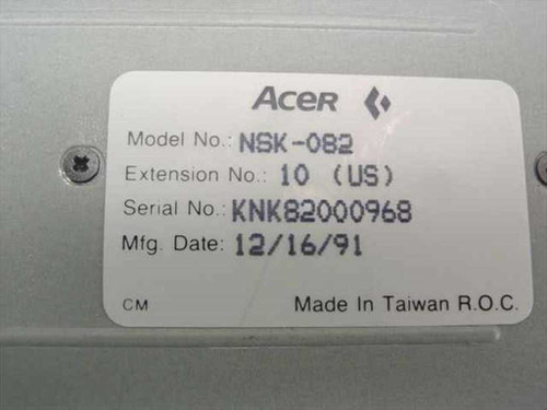 Acer NSK-082 Laptop Keyboard - Extension 10 US Dated 1991