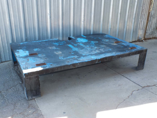 "David A Shulda Steel Heavy-Duty Low Table 96"" x 60"" x 18"" S-87-443"