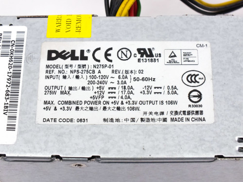 DELL N275P-01 NPS-275CB A 106W Power Supply