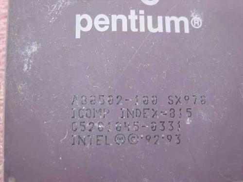 Intel P1 100 Mhz Processor - A80502-100 (SX970)