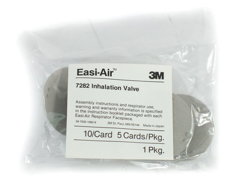 3M 7282 Easi-Air Inhalation Valve 7800S Series Facepiece Respirator - Bag of 50