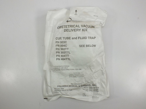 Columbia Medical and Surgical 303TT 404TT Obstetrical Vacuum Delivery Kit