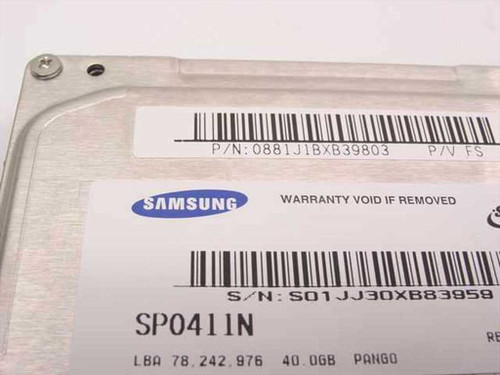 "Samsung 40GB 3.5"" IDE Hard Drive (SP0411N)"