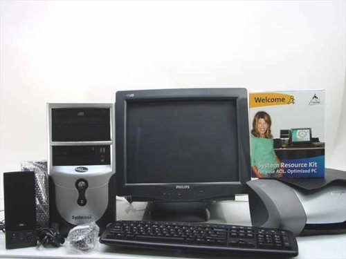 Systemax SYX-651M03 2.0GHz 40GB HDD 256MHZ RAM CD-Rom Computer w/Accessories