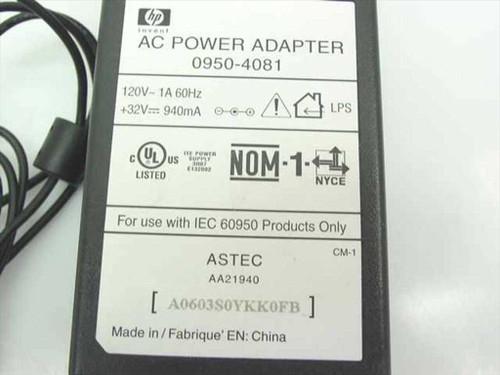 HP AC Adaptor 32VDC 940mA Barrel Plug (0950-4081)