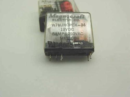 Magnocraft 2 Relays 12vdc 8amp@250VAC W76URCPCX-34