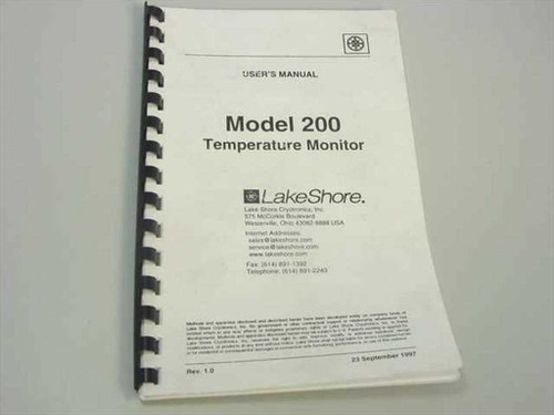 Lakeshore Model 200 Temperature Monitor Users Manual
