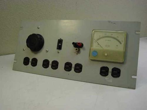 Nortronic Rackmount Variac with Triplett AC Meter