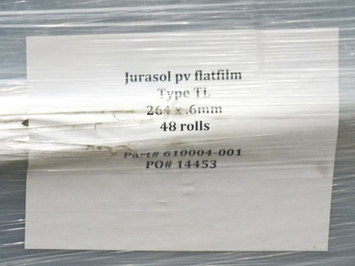 Jurasol PV Flatfilm 48 Type TL Solar Cell Encapsulation Film 264mm x 160m x 0.6m
