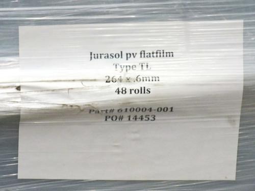 Jurasol PV Flatfilm 48 Type TL Solar Cell Encapsulation Film 264mm x 160m x 0.6m