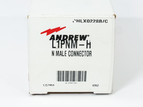 "Andrew L1PNM-H NOB N-Male 1/4"" Connector Kit for RF Signal Path"
