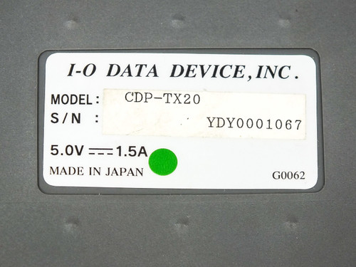 "I-O Data Device CDP-TX20 External CD-ROM Drive with 18"" Cable & Power Supply"