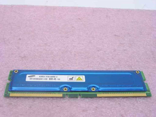 Samsung MR16R0824AN1-CK8 64MB Rambus 184-pin PC800-45 NonECC RDRAM RIMM
