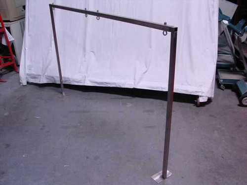"""Clean room Stainless Steel Table Tool Mount - Adjustable 72' Wide by 36"""" High"""