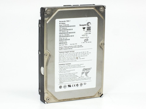 Seagate ST380013AS 80GB SATA Hard Drive Barracuda 7200RPM 9W2812-351 - WIPED