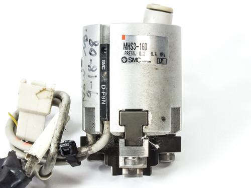 SMC MHS3-16D 3-Finger Gripper Pneumatic Actuator 16mm Bore - No Mounting Pole