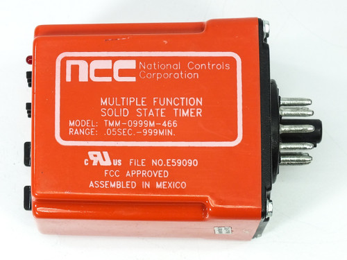 NCC TMM-0999M-466 Multiple Function Solid State Timer 12VDC 11-Pin Socket