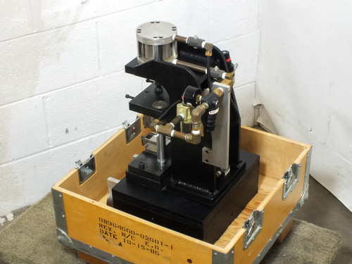 "Bimba F0-50-2 Pneumatic Benchtop Press with 2"" Stroke, Safety Buttons and Crate"
