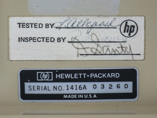 Hewlett Packard 1220A Oscilloscope -AS-IS / FOR PARTS- BAD DISPLAY