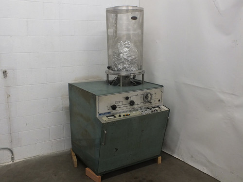 NRC 3114 Sputtering Chamber with Varian SD-700 Vacuum Pump - Cracked Jar - As Is