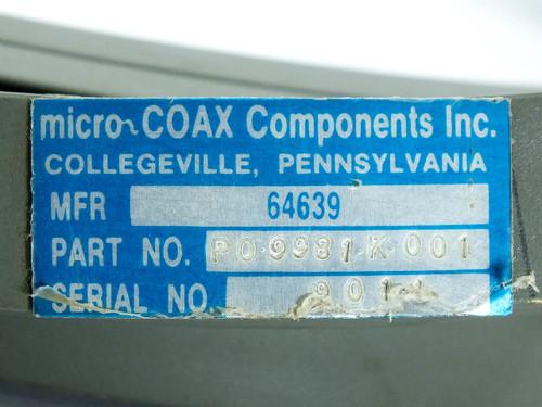 Micro~Coax 10' Ku WR-62 RF Delay Line / Wave Guide  12.4~18.0GHz (PO.9981.K001)