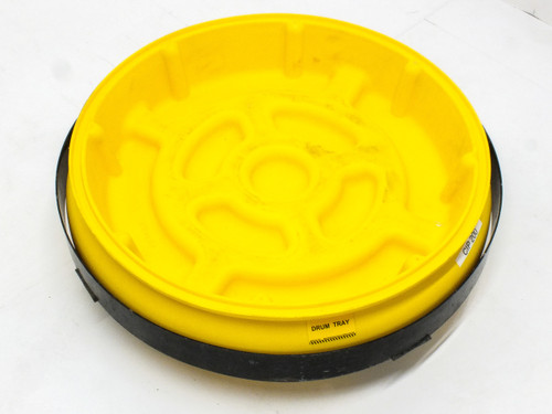 Eagle Manufacturing 1614 55-Gallon Poly Drum Tray w/ Tray Dolly (1618) - Yellow