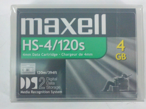 Maxell HS-4/120s Helical Scan 4mm Data Cartridge - New Open Box