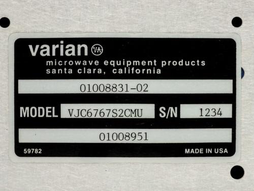 Varian VJC6767S2CMU RF Satcom Control Interface 01008831-02 01008951