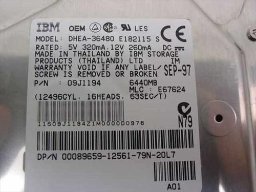 """Dell 6440MB 3.5"""" IDE Hard Drive - IBM 09J1194 89659"""