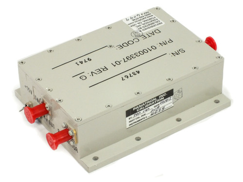 Varian 01003397-1 C-Band Input Power Amplifier Rev: G