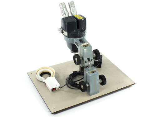 American Optical AO 569 Silver Star Microscope 0.7-3.0x - Lite Mite Illuminator