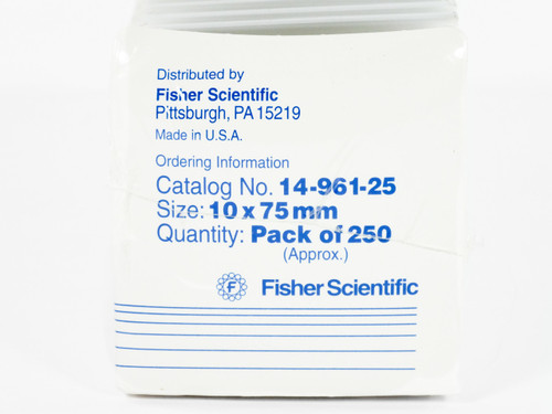 Fisherbrand 14-961-25 Disposable Borosilicate Glass Culture Tubes 250ct