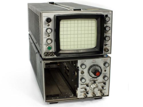 Hewlett Packard 180A Oscilloscope with 1821A Time Base / Delay - BAD CRT - AS IS