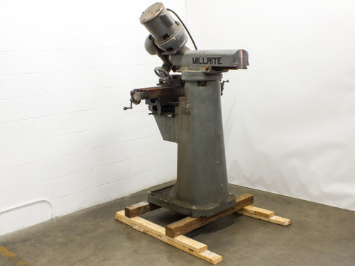 US Burke Machine Tool Co MVI Millrite Adjustable Angle Lathe 180° Rotation 115 Volt