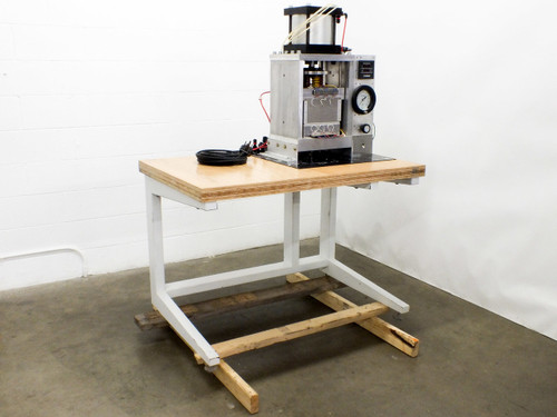 Custom Heated Pneumatic Press with Omron Temperature Controller 230 VAC 3-Phase