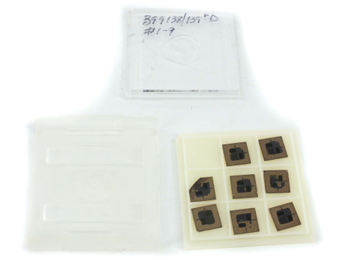 """Entegris H20-551 9-Slot 2"""" Wafer Chip Tray and Cover - Bare Die CSP LOT OF 10"""