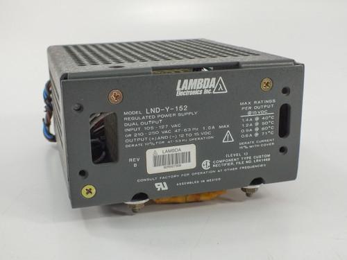 Lambda Electronics LNS-Y-152 Regulated Power Supply Dual Output 12-15 VDC