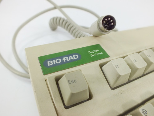 Keytronic E03600QL Key Tronic Bio-Rad DigiLab AT Keyboard - Unique Keys - As Is