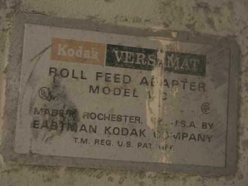 Kodak Versamat Roll Feed Adapter Model 11C for Silk Screen Presses