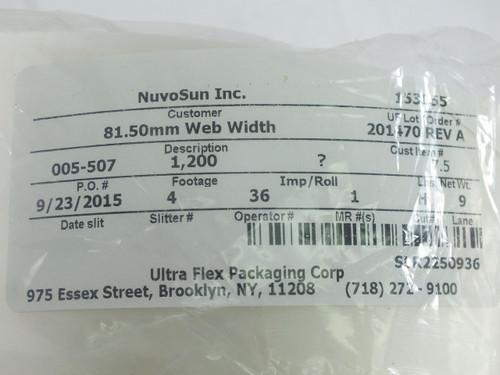 Dupont Bynel 0.1mm Thick EVA Polypropylene PVDF Resin Film for Solar PV 1200ft L