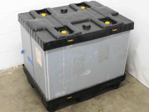 """JSI JSI-0047 Collapsible Plastic Shipping Pallet / Storage Container 24""""w x 32""""d"""