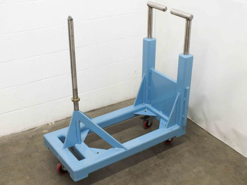 "Blue Stainless Steel Material Handler / Dispenser 1.25"" Diameter Vertical Shaft"
