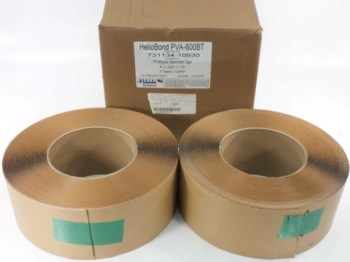 "Royal HelioBond PVA-600BT 2 Rolls of Flexible Solar Panel Adhesive Roof Tape 4""W"